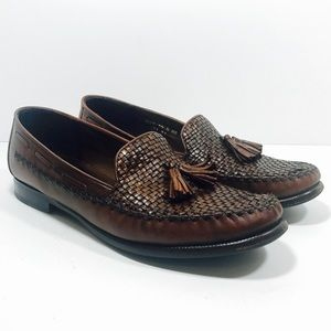 Cole Haan US 10B Woven Leather Tassel Loafers
